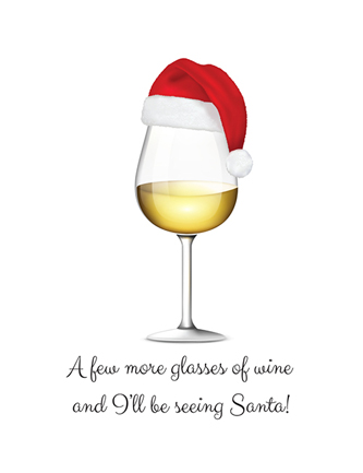 A few more glasses of wine and I'll be seeing Santa!