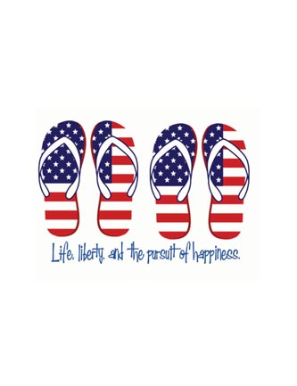 Life, liberty and the pursuit of happiness (flip flops)