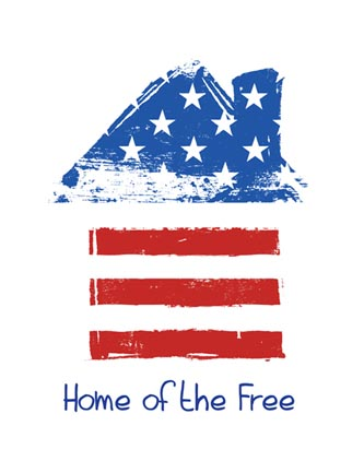 Home of the free (flag house)