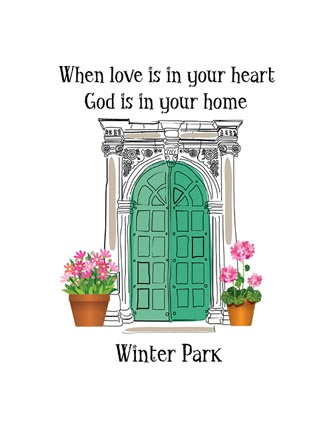 When love is in your heart God is in your home (Name Drop)