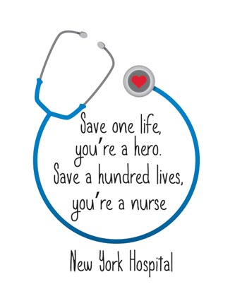 Save one life, you're a hero. Save a hundred lives, you're a nurse (Name Drop)