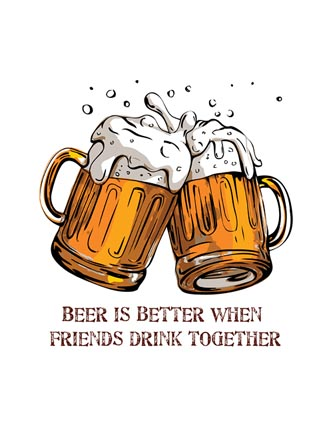 Beer is better when friends drink together
