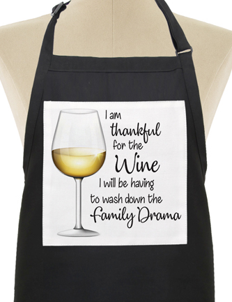 I am thankful for the wine I will be having to wash down the family drama