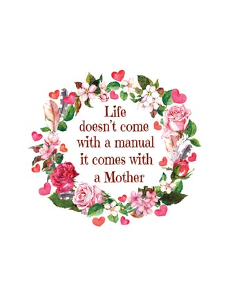 Life doesn't come with a manual it comes with a Mother